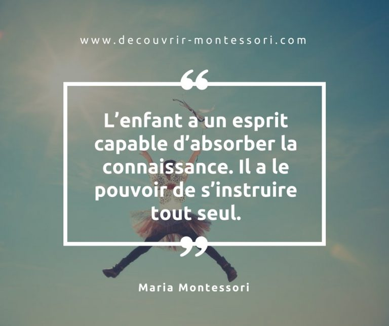 Quelques citations de Maria Montessori