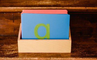 Pédagogie Montessori : les Lettres rugueuses pour l'initiation à l'écriture et à la lecture