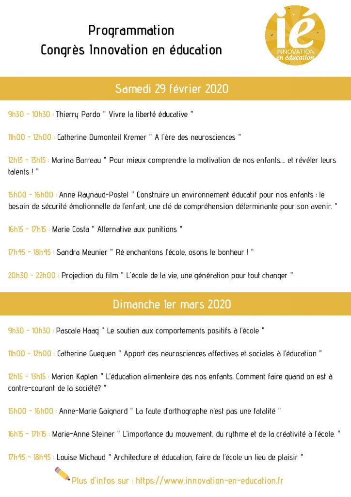 programme congres